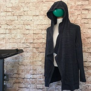 Lovely Athleta waterfall jacket/cardigan with hood